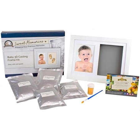 - Plushible Gift Registry Baby Shower Baby Footprint Kit Picture Frame