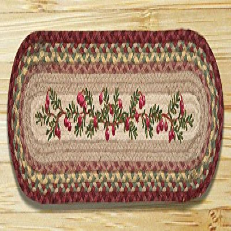 Earth Rugs 49-ST390C Cranberries Oval Stair Tread