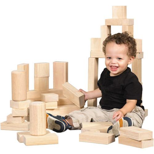 Hardwood Building Blocks, 154 pieces