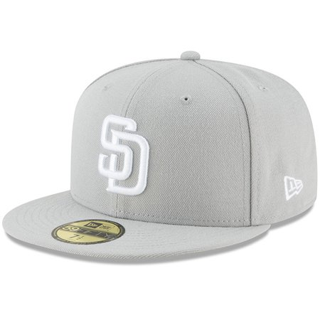 on sale 6255d 28602 San Diego Padres New Era Fashion Color Basic 59FIFTY Fitted Hat - Gray -  Walmart.com