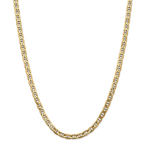 14k Yellow Gold 24in 5.85mm Solid Lightweight Anchor Necklace Chain by Jewelrypot