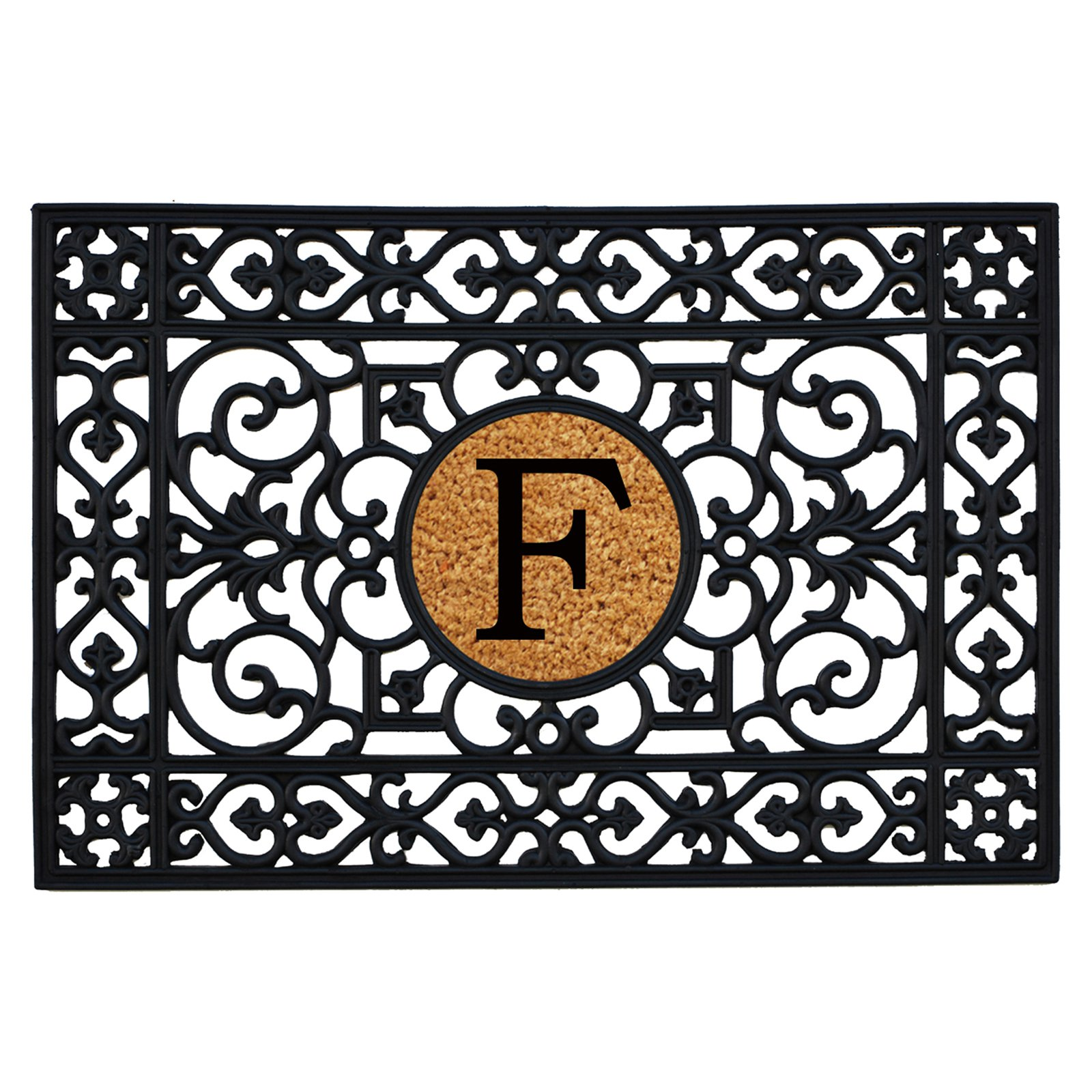 Home & More Rubber Monogram Doormat - 24 x 36 in.