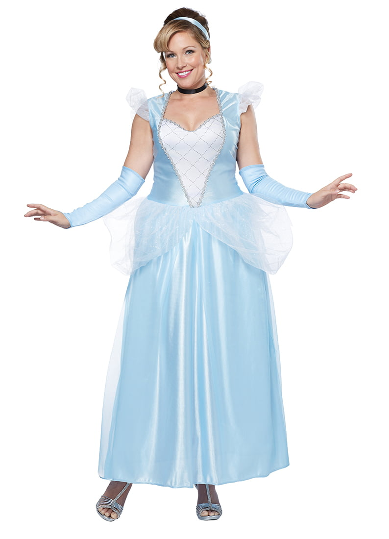 Adult Plus Size Classic Cinderella Princess Costume by California ...