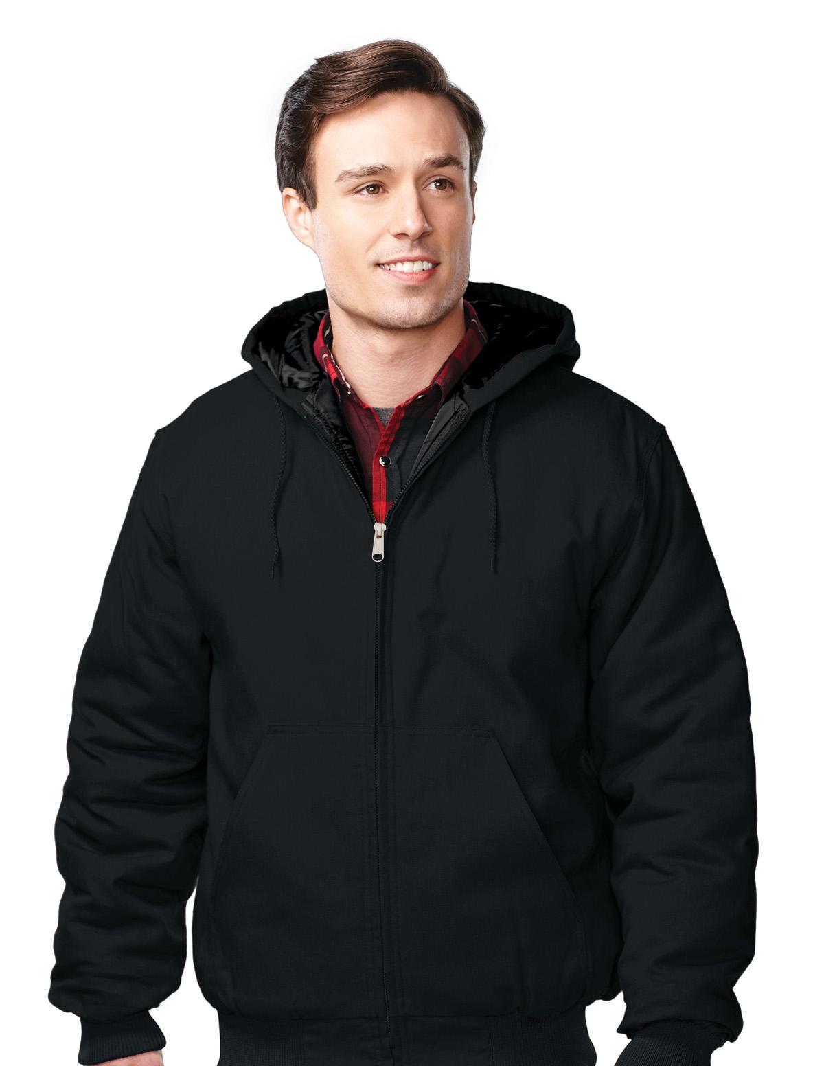 Tri-Mountain Foreman J4550 Cotton Canvas Hooded Jacket, 2X-Large, Black