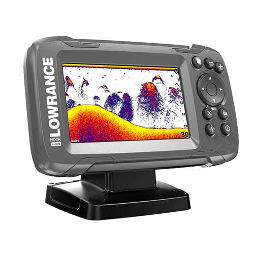 Lowrance HOOK2-4x 4 Inch GPS Bullet Fishfinder w/ Wide-Angle Broadband Sonar- 000-14014-001