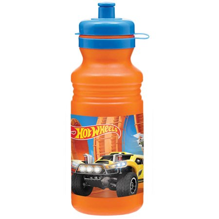 Hot Wheels Wild Racer 18oz Plastic Drink Bottle - Party Supplies