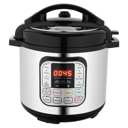 Best Choice Products 6L 1000W Multi functional Stainless Steel Non-Stick Electric Pressure Cooker w/ LED Display Screen, 10 Settings, 3 Modes, (Best Pressure Cooker Blogs)