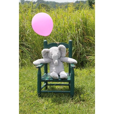 LAMINATED POSTER Elephant Baby Announcement Gray And Pink New Baby Poster Print 24 x 36