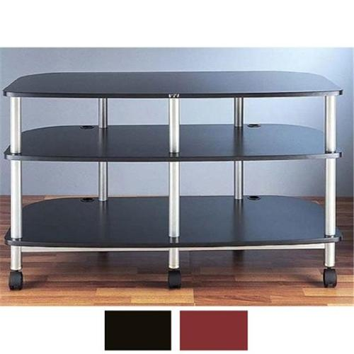 VTI Manufacturing AR503SB 5 Silver Poles 3 Black Shelves With Caster TV & AV Stand