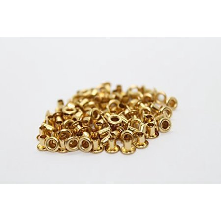 Trimming Shop 100 X 2mm Eyelets For Clothing And Leather Crafts Grommets For Adding Ribbons Lacing And Fabric In Art And Sewing Projects - Gold - Eyelets For Paper