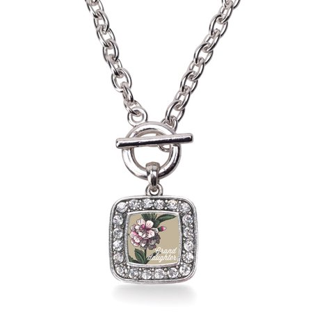 Granddaughter Apple Blossom Flower Classic Charm Toggle - Meaning Squash Blossom Necklace