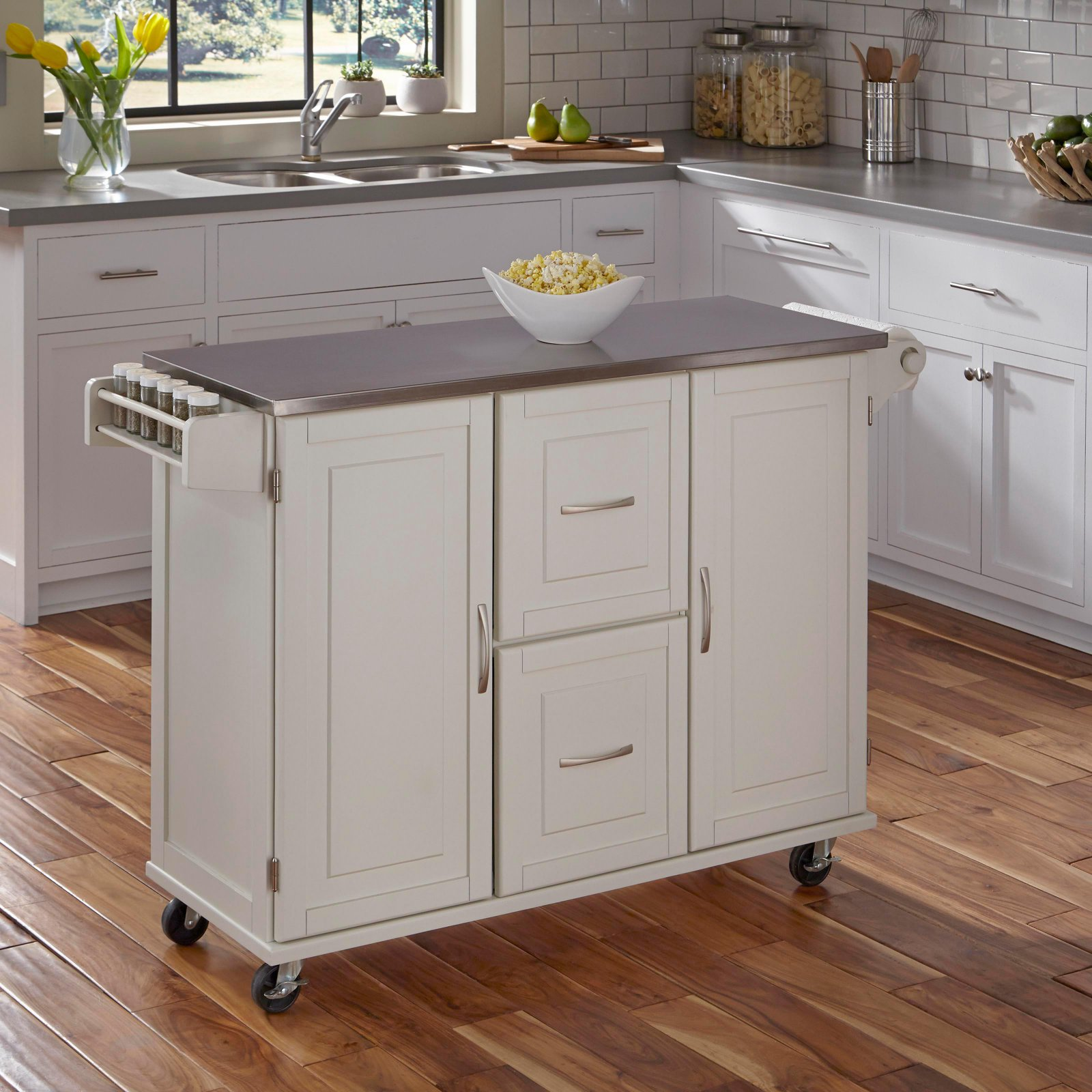 Patriot Kitchen Cart, White by Home Styles
