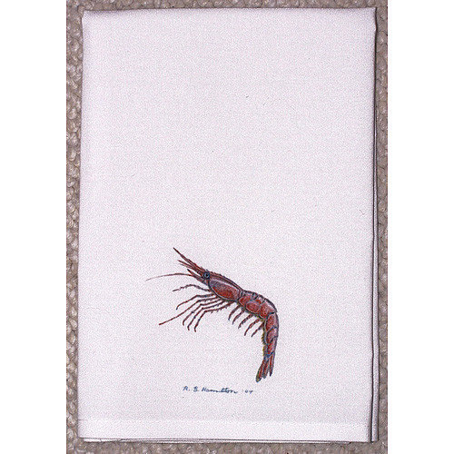 Betsy Drake Interiors Coastal Shrimp Hand Towel (Set of 2)