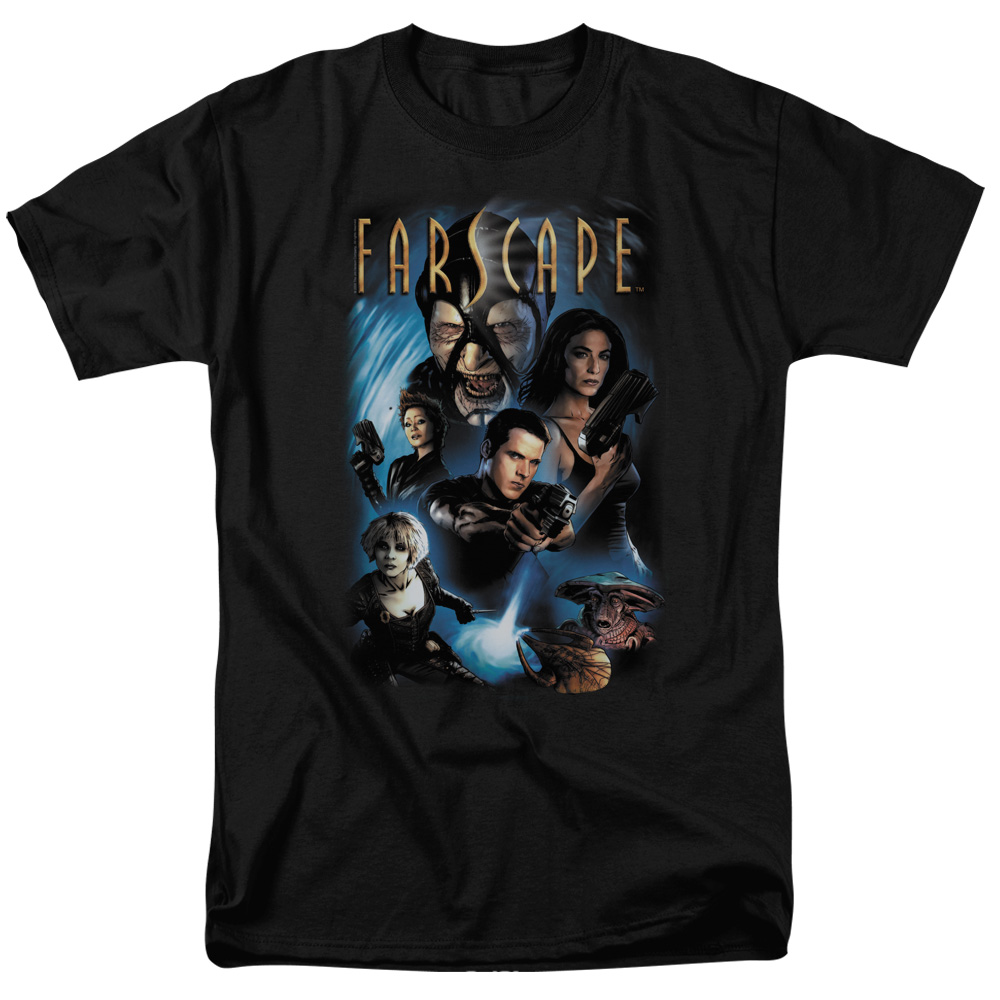Farscape Men's  Comic Cover T-shirt Black