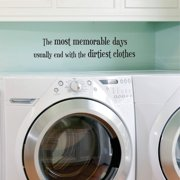 Belvedere Designs LLC Dirtiest Clothes Wall Quotes  Decal