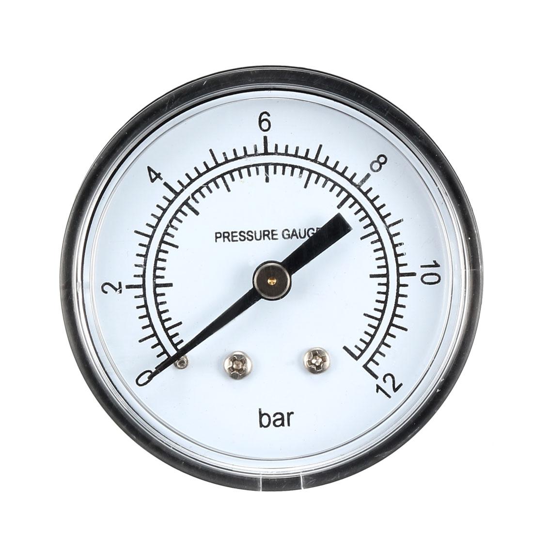 """Pressure Gauge , 0-12 BAR Dual Scale 2"""" Dial Display , 1/4"""" NPT - image 4 of 4"""