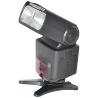 Pro Series Digital SLR Auto-Focus/Auto Power Zoom TTL Flash w/LCD Display + eCostConnection Microfiber Cloth
