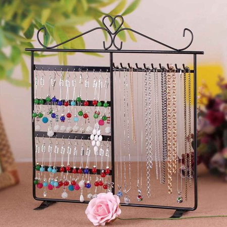 Metal Iron Earrings Necklace Ear Studs Jewelry Display Rack Stand Organizer - Vintage Iron Jewelry Holder