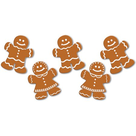 Christmas Cutouts (Set Of 10 Mini Gingerbread Cutouts Christmas Holiday Party Decorations)