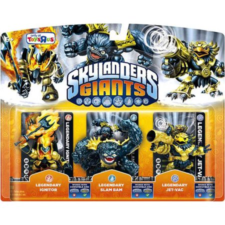 Skylanders Giants Legendary Ignitor, Slam Bam & Jet-Vac Figure 3-Pack