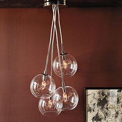 Lightinthebox 60w Artistic Modern Pendant With 4 Lights In Gl Bubble Design Home Ceiling Light