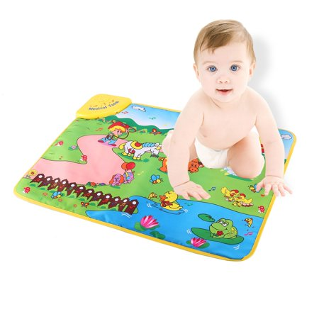 Farm Play Carpet - Music Mat Education Music Sound Farm Animal Touch Baby Play Singing Mat Baby Gym Carpet