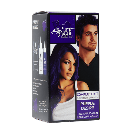 Splat 30 Wash Hair Dye Kit, Semi-Permanent, Purple Desire
