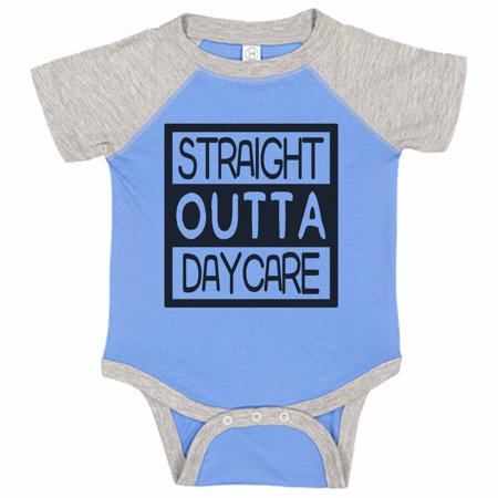 """Kids Funny Baseball Onesie """"Straight Outta Daycare"""