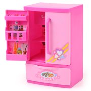 Khall Mini Refrigerator Toy Kids Refrigerator ABS Plastic For Role Play Pretend Play Parent-Child Game