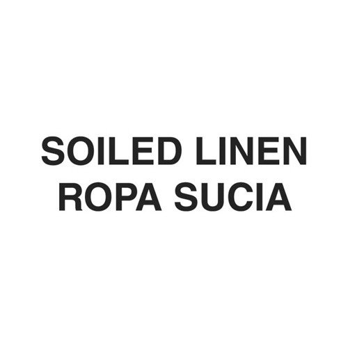 Rubbermaid Commercial Products 10 x 4 Medical Decal ''Soiled Linen'' in White
