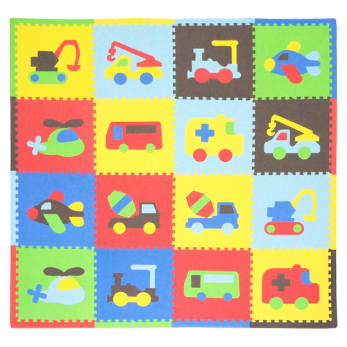 Tadpoles Playmat Set, 16pc, Transport, Multi