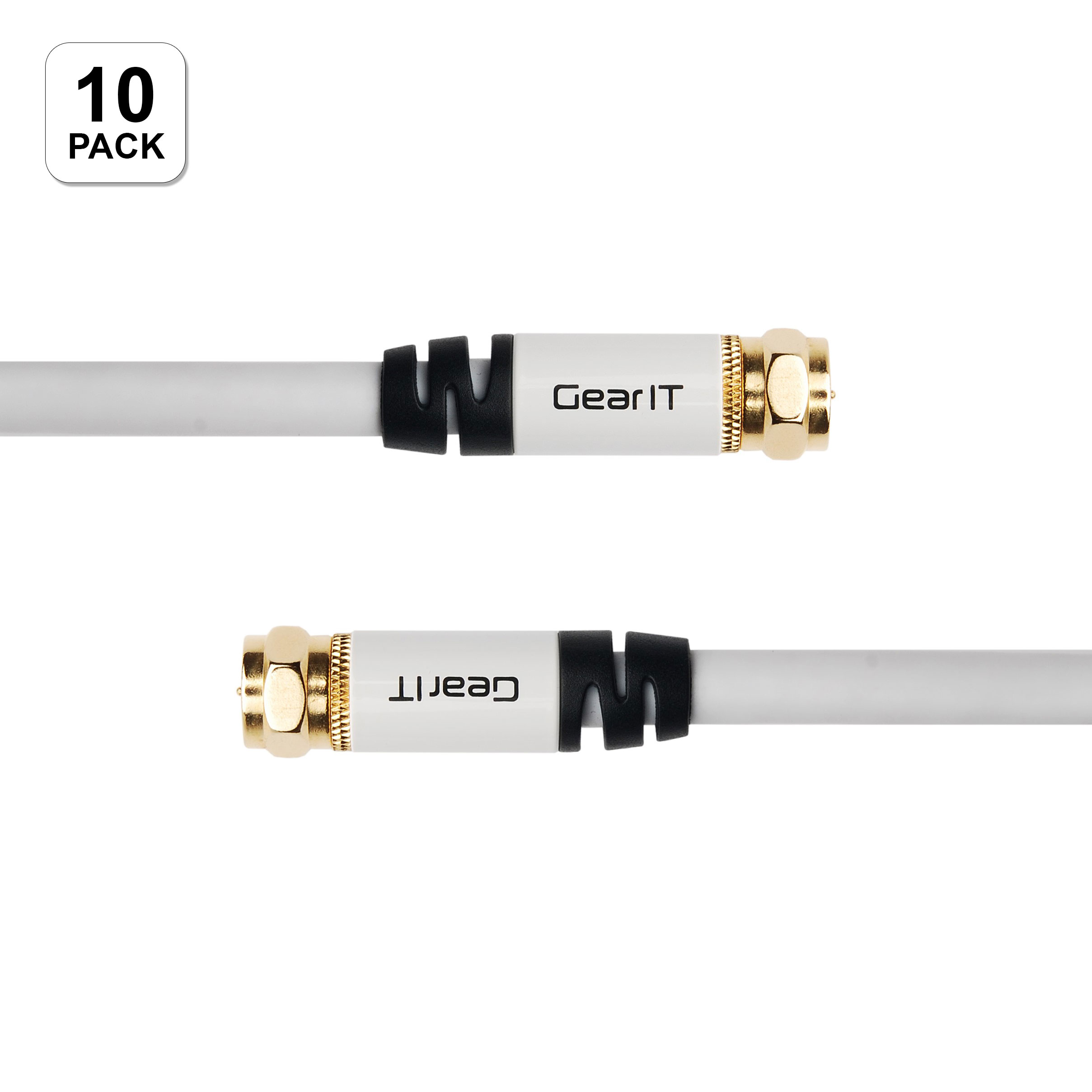 GearIt (10-Pack) Coaxial RG6 Digital Audio / Video Cable ...