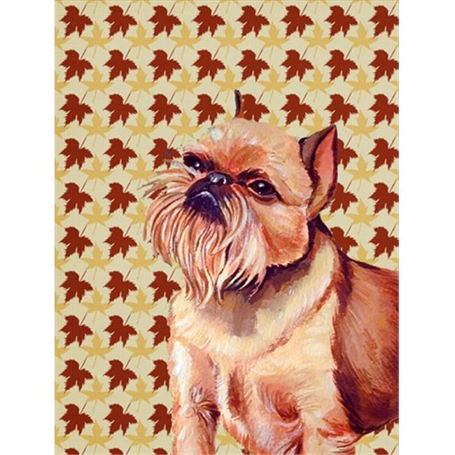 Carolines Treasures LH9089CHF 28 x 40 In. Brussels Griffon Fall Leaves Portrait Flag Canvas, House Size - image 1 de 1
