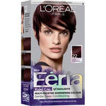 L'Oreal Paris Feria Rebel Chic 22 Deep Burgundy Permanent Haircolour Gel, 1 application