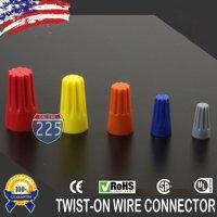 50 pcs Blue Twist-On Wire GARD Connector Conical Nuts 22-14 Gauge Barrel Screw