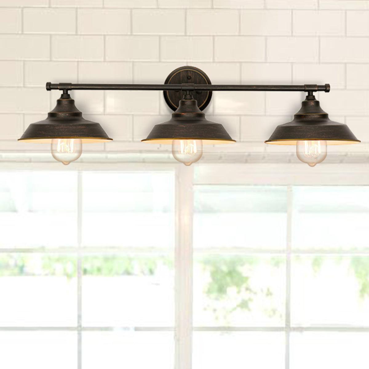 Lamps Lighting Ceiling Fans 2 3 Light Industrial Vanity Light Fixture Bathroom Metal Wall Lamp Wall Sconce Podh Com Br