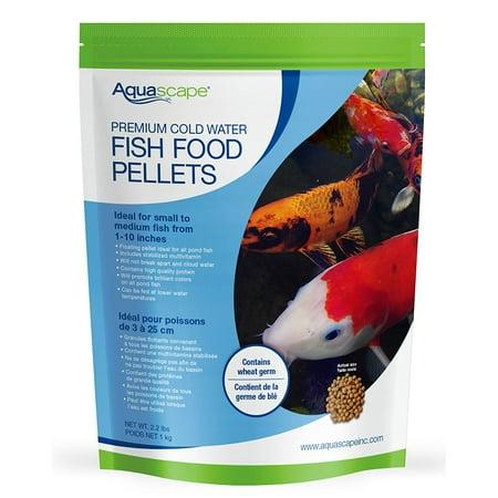 Aquascape 98871 cold water fish food pellets 1kg for Walmart fish food
