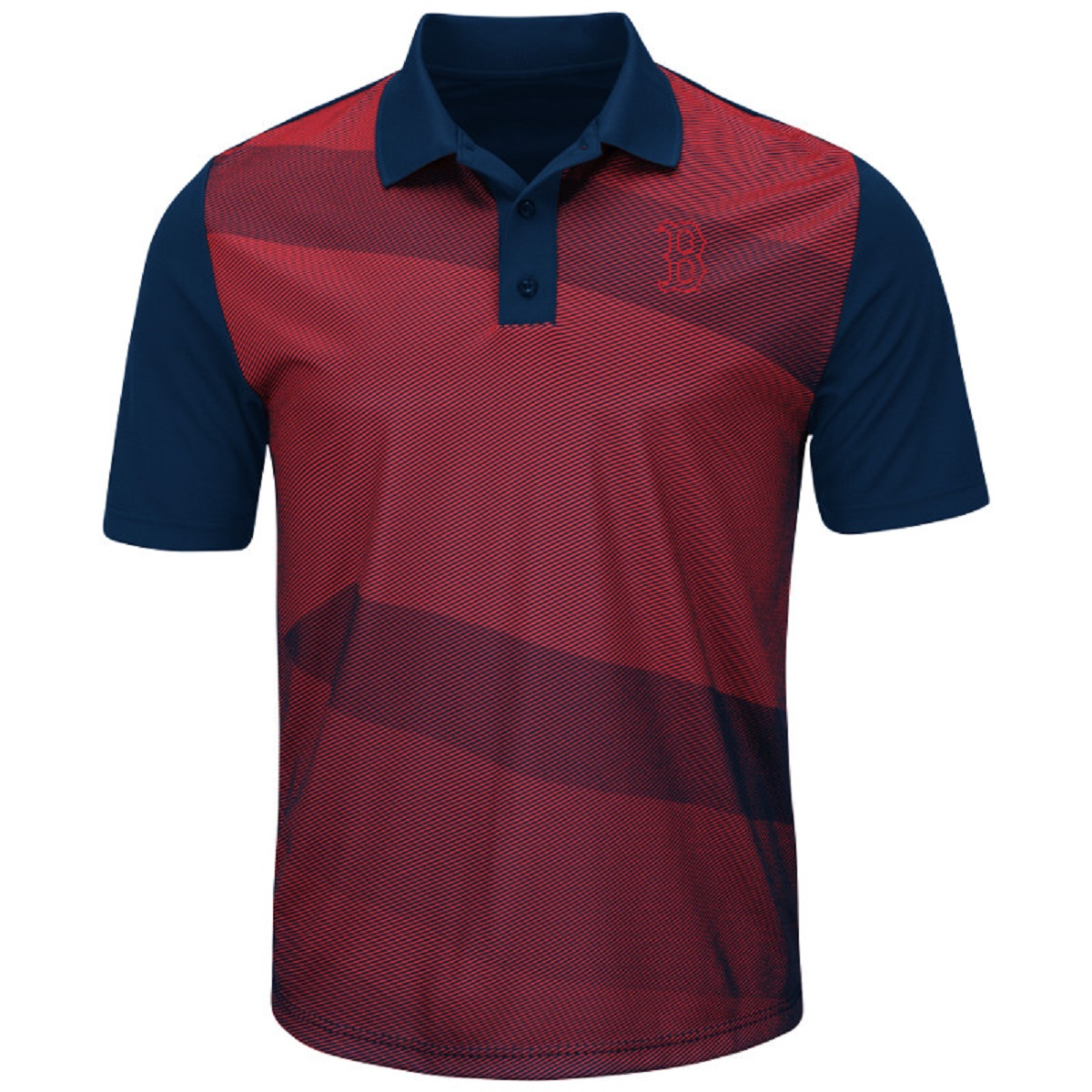 Boston Red Sox Late Night Prize Red/Blue Sublimated Cool Base Polo Shirt (S)