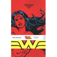 Moleskine Limited Edition Notebook Wonder Woman, Large, Ruled, Red