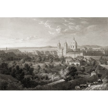 Lisbon From The Rua De San Miguel From The Original Painting By Lt Col Batty FRS From The Book Select Views Of Some Of The Principal Cities Of Europe  Published London 1832 Engraved By T Jeavons (Distance From Leon To San Miguel De Allende)