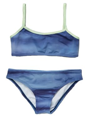 876ca2a875764 Product Image Little Girls Blue Colored Cami Top 2 Piece Bikini Swimsuit