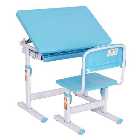 Goplus Children Desk Chair Adjustable Student Study Kids Work