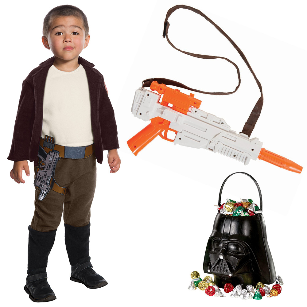 Star Wars Episode VII: The Last Jedi - Poe Dameron Child Costume with Blaster and Candy Pail - Size MEDIUM