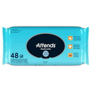 WCU48 Attends Washcloths, Unscented, 48 count
