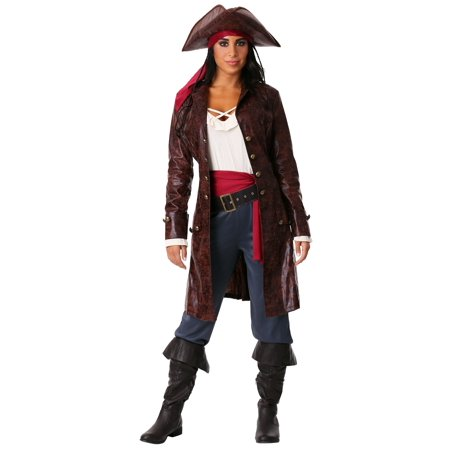 Women's Plus Pretty Pirate Captain Costume - Captain Pirate Costume