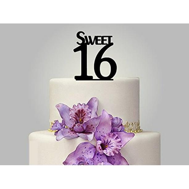 Outstanding Buythrow Sweet 16 Cake Topper Birthday Cake Toppers Custom Funny Birthday Cards Online Benoljebrpdamsfinfo