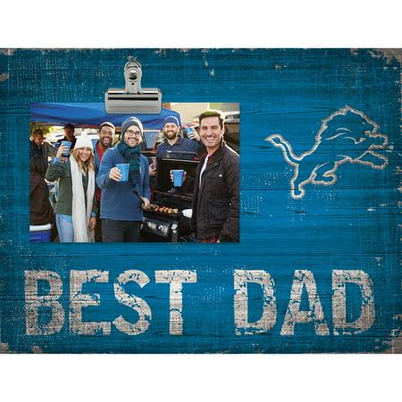 Detroit Lions 8'' x 10.5'' Best Dad Clip Frame - No