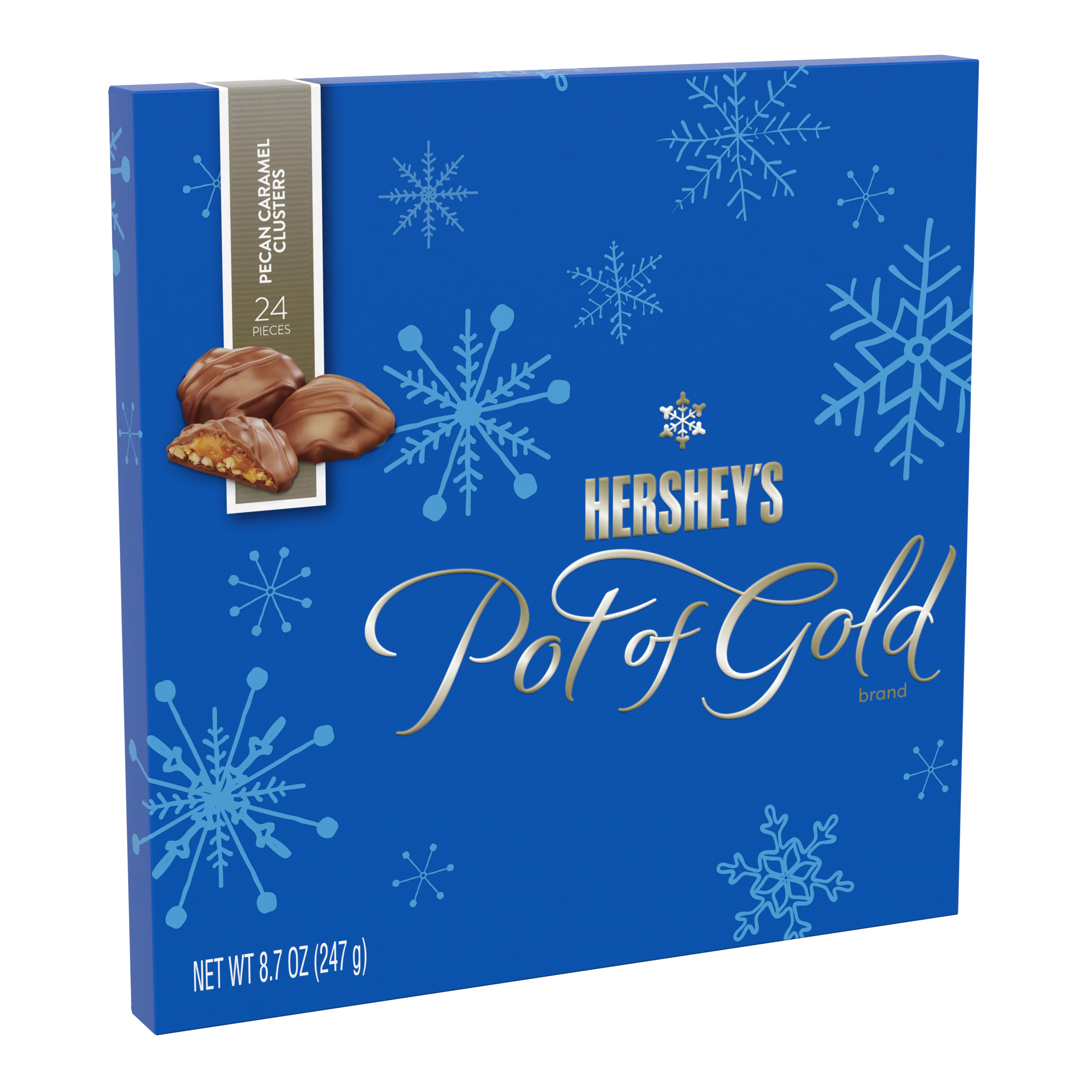 Hershey's, Pot of Gold Pecan Caramel Clusters Christmas Candy, 8.7 Oz