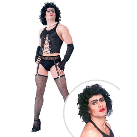 Rocky Horror Picture Show FrankNFurter Costume Kit Adult Standard With Wig (Rocky Horror Show Costume)