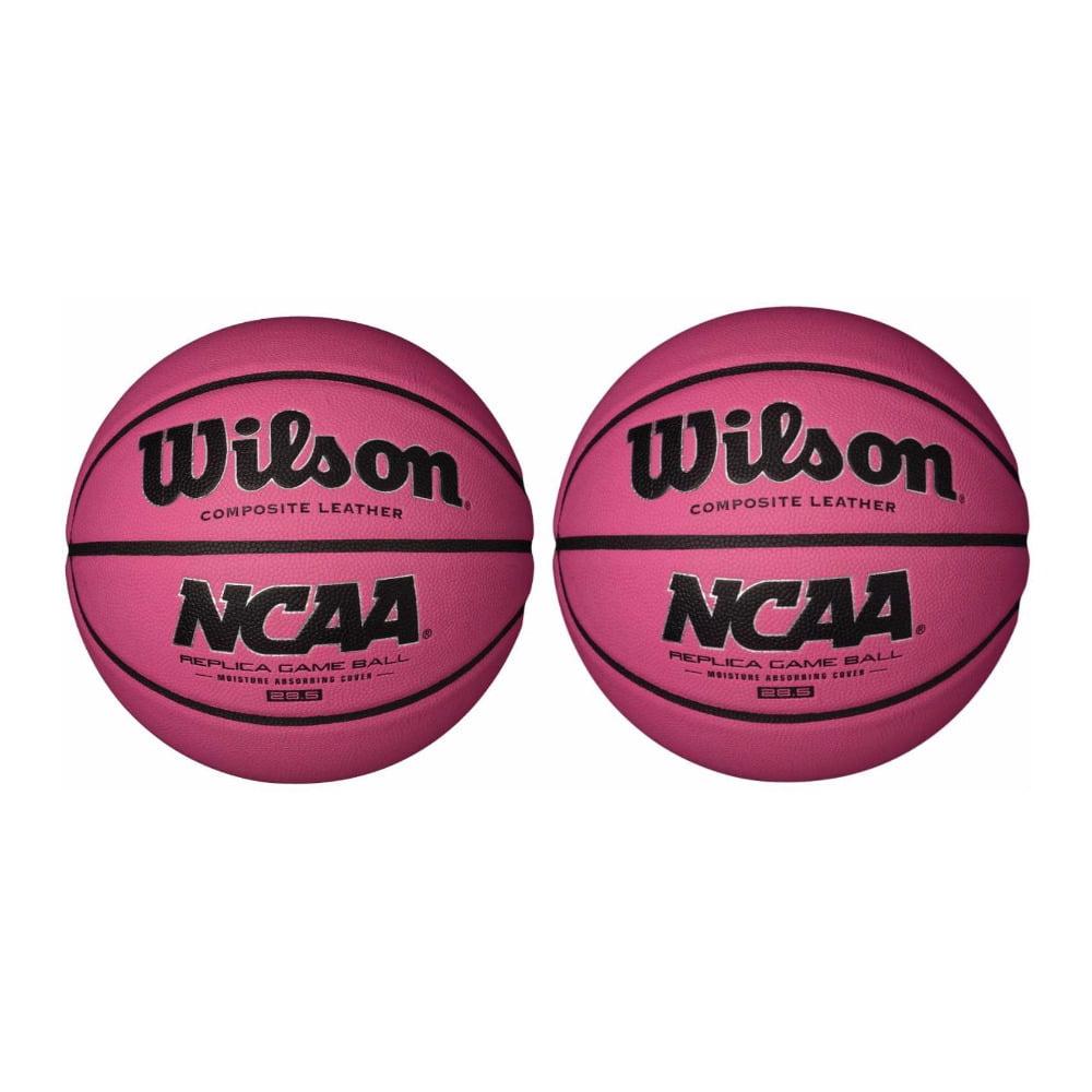 "Wilson NCAA Pink Replica Game Basketball (28.5"", 2-Pack)"